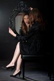 Barok Lustrzana dziewczyna Zdjęcia Royalty Free