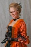 Barok meisje Stock Foto's
