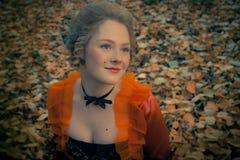 Barok meisje openlucht Royalty-vrije Stock Fotografie