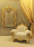 Barok meubilair in luxueuze binnenlands Royalty-vrije Illustratie