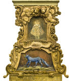 Barok Middeleeuws Decor in Praag Stock Foto