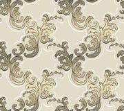 Barok naadloos patroon royalty-vrije illustratie