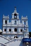 Barok Nasz dama on Niepokalanego poczęcia kościół w Panjim Zdjęcia Royalty Free