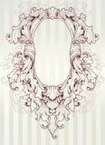 Barok ovaal frame Stock Illustratie