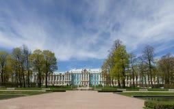 Barok-stijl Catherine Palace in Pushkin, St. Petersburg royalty-vrije stock fotografie