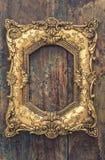 Barok stylowa antykwarska złota rama Obraz Royalty Free
