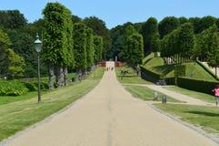 Barok trädgård - Frederiksborg slott Royaltyfri Foto