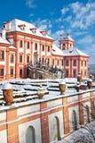 Barok Troja-kasteel, Praag, Tsjechische republiek stock afbeelding
