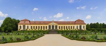 Barok tuin en Friedrich Palace Stock Foto's