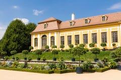 Barok tuin en Friedrich Palace Stock Afbeelding