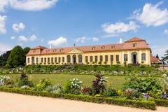 Barok tuin en Friedrich Palace Royalty-vrije Stock Foto