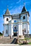 Barokke basiliek van de Veronderstelling van Maagdelijke Mary, Hostyn dichtbij Bystrice-peul Hostynem, Tsjechische Republiek Iimp stock fotografie