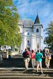 Barokke basiliek van de Veronderstelling van Maagdelijke Mary, Hostyn dichtbij Bystrice-peul Hostynem, Tsjechische Republiek Iimp stock foto