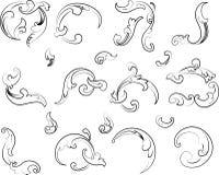Barokke Clipart. De Stijl van de kalligrafie. Royalty-vrije Stock Foto