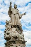 Barokke culpture van St John van Nepomuk in Varazdin, Kroatië royalty-vrije stock foto's