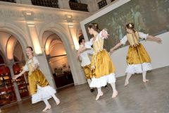 Barokke dans in Polen royalty-vrije stock afbeelding