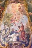 Barokke Fresko van St Peter van Verona in Valencia royalty-vrije stock fotografie