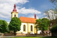 Barokke kerk Stock Foto's