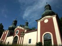 Barokke kerk in Calvary Royalty-vrije Stock Foto