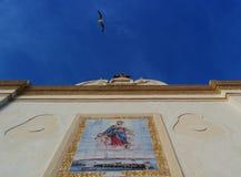 Barokke kerk met zeemeeuw in Salento - Italië Stock Afbeeldingen