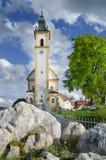 Barokke kerk in Pleystein, Duitsland Royalty-vrije Stock Foto's