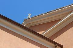 Barokke kerk in Rome dicht bij Roman forum Royalty-vrije Stock Afbeeldingen