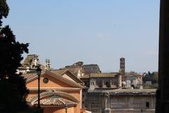 Barokke kerk in Rome dicht bij Roman forum Stock Foto