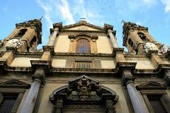 Barokke kerk. S. Ingnazio Olivella, Palermo stock afbeelding