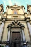 Barokke kerk. S. Ingnazio Olivella, Palermo royalty-vrije stock fotografie