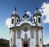Barokke Kerk in Sao Joao del Rey royalty-vrije stock afbeelding