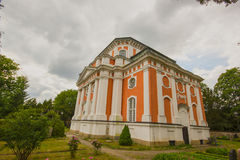 Barokke kerk - Schlosskirche Buch - in Alt Buch Berlijn Stock Foto