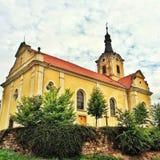 Barokke kerk in Tsjechische Republiek Stock Foto's