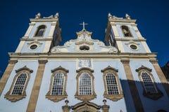 Barokke kerkvoorgevel, Pelourinho, Salvador, Bahia, Brazilië royalty-vrije stock foto