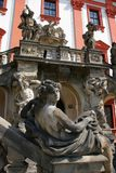 Barokke manor in Praag Stock Afbeelding