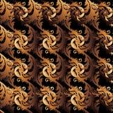 Barokke ornamenten Uitstekend naadloos patroon vector illustratie
