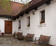 Barokke pastorie van kerk in Tsjechische republiek stock fotografie