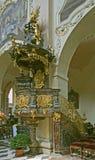 Barokke preekstoel Stock Afbeeldingen