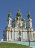 Barokke St Andrew Church in Kiev, de Oekraïne Royalty-vrije Stock Foto's
