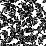 Barokke zwarte wit geïsoleerde ornamenten royalty-vrije illustratie