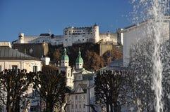 Barokowa architektura. Mirabellplatz Salzburg, Austria. obrazy stock