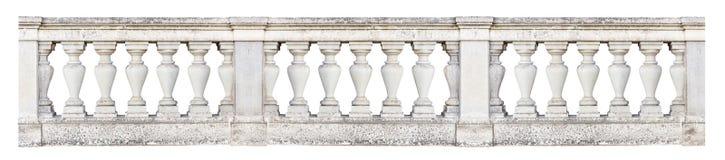 Barokowa balustrada odizolowywająca na białym tle Obraz Royalty Free