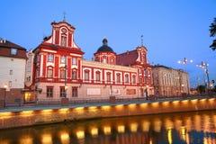 Barokowa biblioteka w Wrocławskim Fotografia Royalty Free