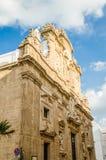 Barokowa fasada Sant'Agata katedra w Gallipoli, Włochy Zdjęcia Royalty Free