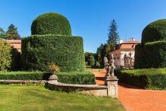 Barokowa górska chata Buchlovice w republika czech Klasyczny barokowy budynek Turystyka w Środkowym Europa ornamentacyjni ogródy Zdjęcie Stock