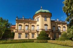 Barokowa górska chata Buchlovice w republika czech Klasyczny barokowy budynek Turystyka w Środkowym Europa ornamentacyjni ogródy Fotografia Stock