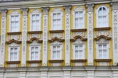 Barokowa pałac fasada przy zjednoczenie kwadratem Zdjęcia Royalty Free