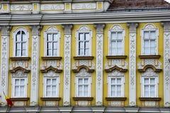 Barokowa pałac fasada przy zjednoczenie kwadratem Fotografia Royalty Free
