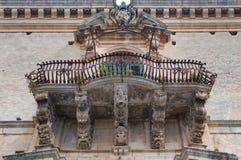 Barokowy balkon odrobiny, Sicily, Włochy Fotografia Stock