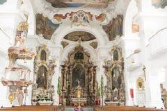 Barokowy Bawarski kościół Fotografia Stock