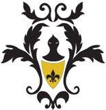 barokowy czarny rycerz Zdjęcie Stock